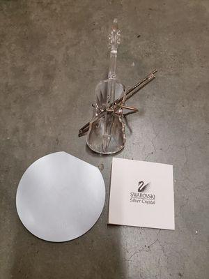 VINTAGE SWAROVSKI CRYSTAL GLASS VIOLIN / CELLO MUSICAL INSTRUMENT FIGURE W/ STAND & BOX for Sale in Marina del Rey, CA