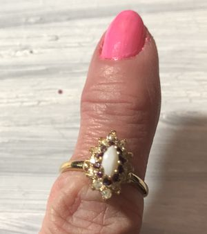Opal Ruby Diamond Ring 6 1/2 for Sale in Dallas, TX