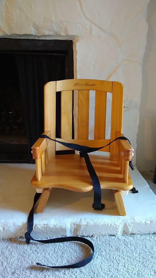 Eddie Bauer wooden kids chair
