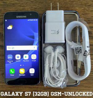 Galaxy S7 (32GB) GSM-UNLOCKED + Accessories for Sale in Bailey's Crossroads, VA