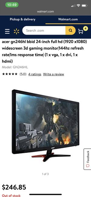 """Acer 24"""" gaming monitor for Sale in Sugar Land, TX"""