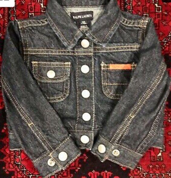 Ralph Lauren infant boys or girls denim jean jacket s/m 3-12 month