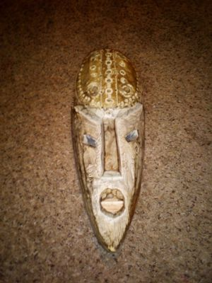 Hand Crafted in Ghana Wooden Tribal Mask for Sale in Lake Hallie, WI