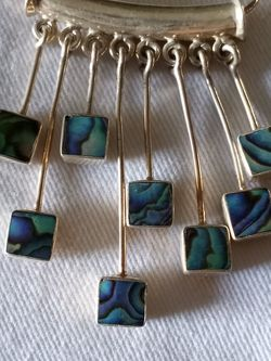 Vtg.sterling Abalone Necklace for Sale in Rancho Mirage,  CA