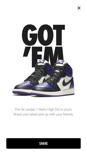Jordan retro 1 court purple for Sale in Chicago, IL