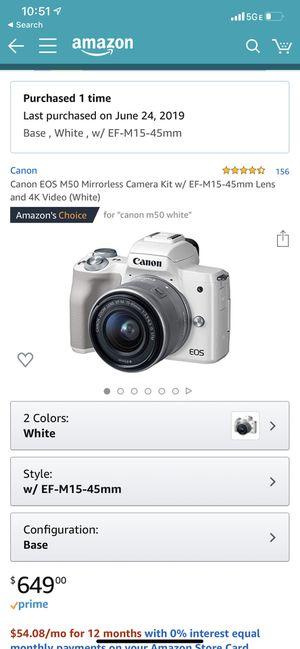 M50 4k video camera for Sale in Edmonds, WA