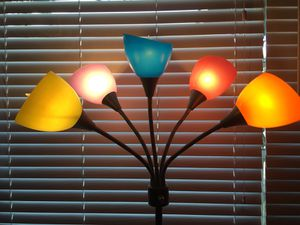 Colorful floor lamp for Sale in San Antonio, TX