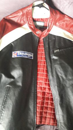Triumph leather motorcycle jacket for Sale in Vancouver,  WA