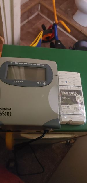 Pyramid 2600 time clock for Sale in Clinton, MS