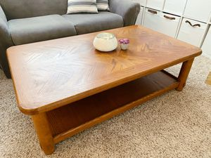 Solid Wood Coffee Table for Sale in Winchester, CA