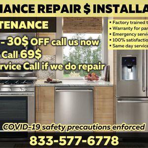 Appliance Repair & Installation - Dryer/ Washer, Dishwasher, Refrigerator, Freezer, Oven, Stove, Range for Sale in La Puente, CA