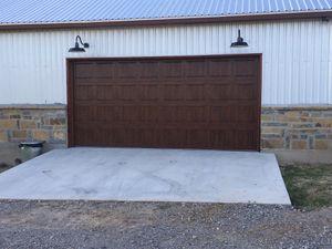 Garage doors 16x7 regular $550 brand new for Sale in Dallas, TX