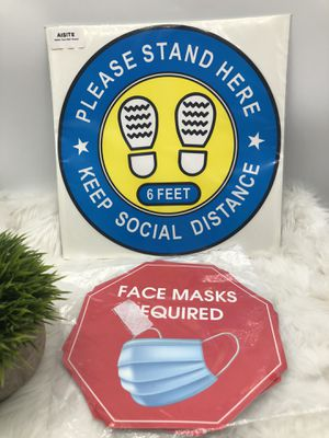 Wear Face Mask Sign & Social Distancing Floor Decals for Sale in West Valley City, UT