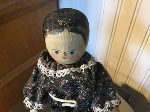 Antique Wooden Peg Doll for Sale in Moreno Valley, CA