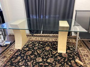 Large glass dining table for Sale in Oakland, CA