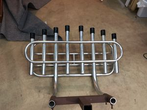 8 rod aluminum fishing rod holder $300OBO for Sale in Centreville, VA