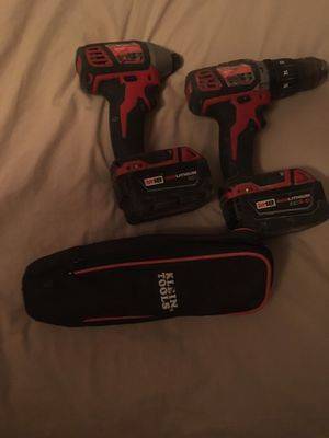 Milwaukee Hammer drill,impact and Klein meter for Sale in Winter Haven, FL