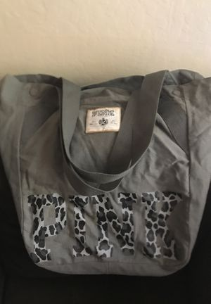 Victoria's Secret Leopard PINK heavy duty grey bag - $10 for Sale in Antioch, CA