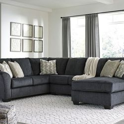 NEW, U SHAPPED, RAF CORNER CHAISE SECTIONAL, SLATE COLOR. for Sale in Santa Ana,  CA