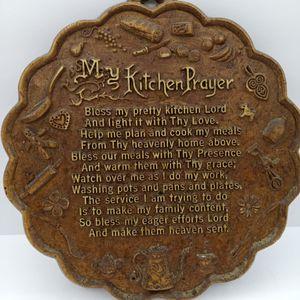 "Vintage 1950's ""My Kitchen Prayer"" Plaque for Sale in Waterbury, CT"
