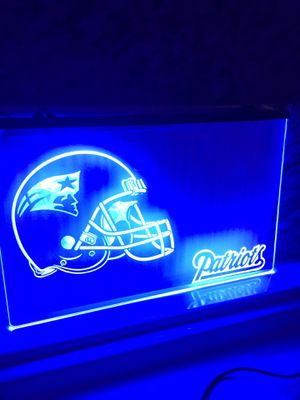 New England Patriots L.e.d. signs, Patriots neon signs, Patriots lights, Patriots night lights, and Patriots jerseys. for Sale in La Habra Heights, CA