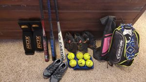 Softball equipment from Mikken, Easton, Adidas, and Worth!! for Sale in Austin, TX