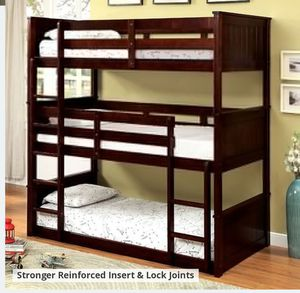 CM 628 TRIPLE TWIN BUNK BED MATTRESS NOT INCLUDED ORDER TODAY ☎️ 1714586*2564 for Sale in Buena Park, CA