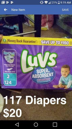 Size 2 Luvs/Huggies Diapers for Sale in Salt Lake City, UT