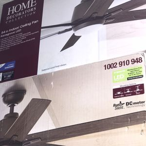"""6 / 54"""" Size Ceiling Fan Led With Remote Control $115each 3 Brown & 3 Silver for Sale in Glendale, AZ"""