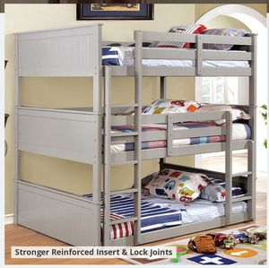 CM BK TRIPLE TWIN BUNK BED MATTRESS NOT INCLUDED ORDER TODAY ☎️ 1714586*2564 for Sale in Buena Park, CA