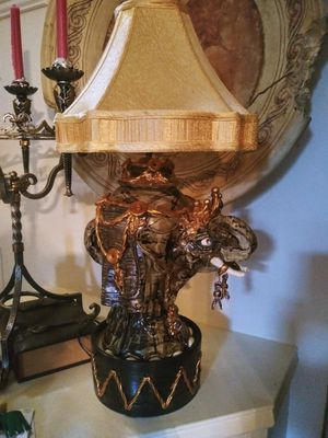 Oriental lamp elephant for Sale in Plano, TX
