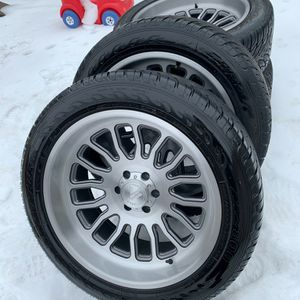 Like New 22 Inch Asanti Brushed Wheels With Atturo Tires (Hablo Español) for Sale in Elgin, IL