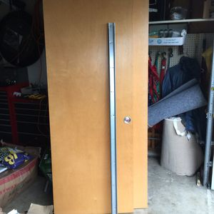 Sliding closet doors. Maple 2 sets. -30 x 80 The other set is 36 x 80. Mounting track hardware included. Normal wear in great shape. for Sale in Duvall, WA