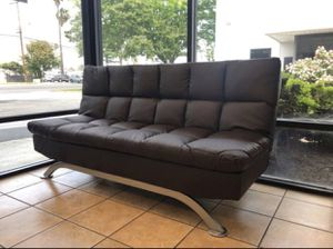 Futon Sofa Bed - AVAILABLE IN BLACK OR BROWN for Sale in Chino, CA