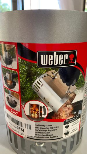 Weber Chimney Starter 7447 for Charcoal BBQ Grill for Sale in Gilbert, AZ