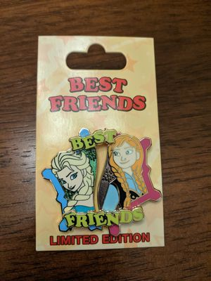 Disney pin frozen Elsa and Anna-best friends limited edition of 8000. These two pins are backed on one card and sold together for Sale in Glendale, AZ