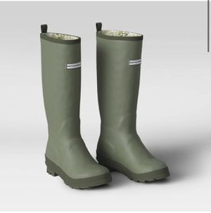 Women's Tall Rain Boots Green Size 7,8,9- Smith & Hawken for Sale in Rosemead, CA