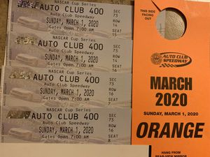 NASCAR TIX for Sale in Rancho Cucamonga, CA