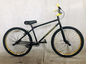 """2020 R4 26"""" Complete BMX Bike Cruiser Bicycle W/ Stunt Pegs (Matte Black & Gold) for Sale in Chino, CA"""