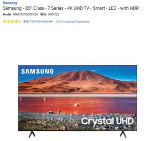 BRAND NEW 65 inch Samsung TV for Sale in Braintree, MA