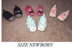 Used, Newborn - Size 3 shoes for Sale for sale  Lawrenceville, GA