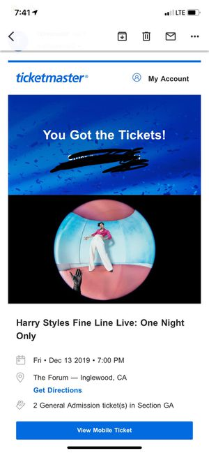 Harry styles at the forum - FLOOR TICKETS for Sale in Corona, CA