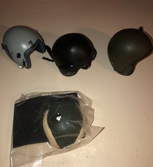 """1/6 military helmets; set of 4; for 12"""" action figures for Sale in Montgomery, AL"""