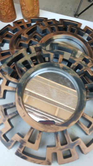 Set of 3 wall circle mirrors for Sale in Goodyear, AZ
