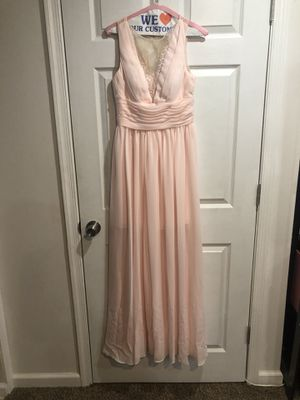 Light pink wedding dress size 4 for Sale in Adelphi, MD