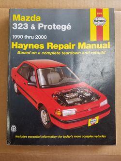1990-2000 Mazda 323 & Protege Haynes Shop Manual for Sale in Sherrills Ford,  NC