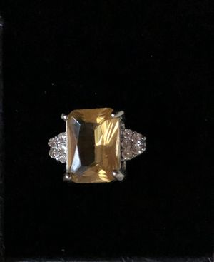 Yellow Sapphire and White Topaz size 8 for Sale in Plato, MO