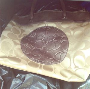 Brown and gold coach poppy purse/bag for Sale in Salem, MA