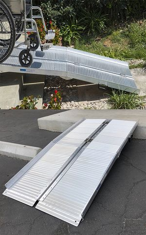 """$115 NEW Aluminum 5' ft Portable Multifold Wheelchair Scooter Mobility Ramp (60""""x28"""") for Sale in Pico Rivera, CA"""