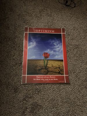 Optimism poster for Sale in Quincy, IL